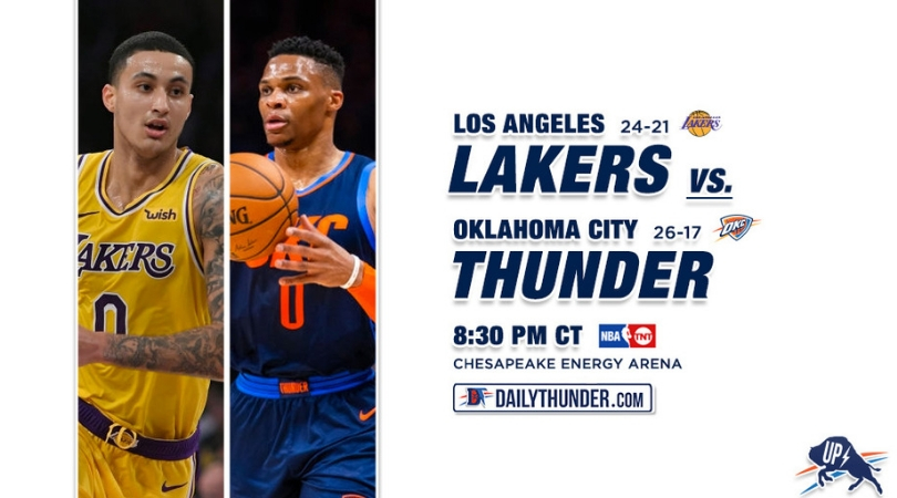 Preview: Lakers @ Thunder