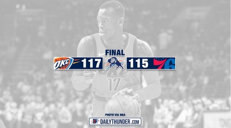 Paul George Saves Thunder From Collapse, Delivers 117-115 Win in Philly
