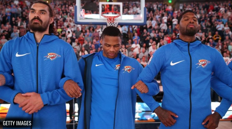 Thunder's George, Westbrook, Adams hold places in NBA All-Star fan voting