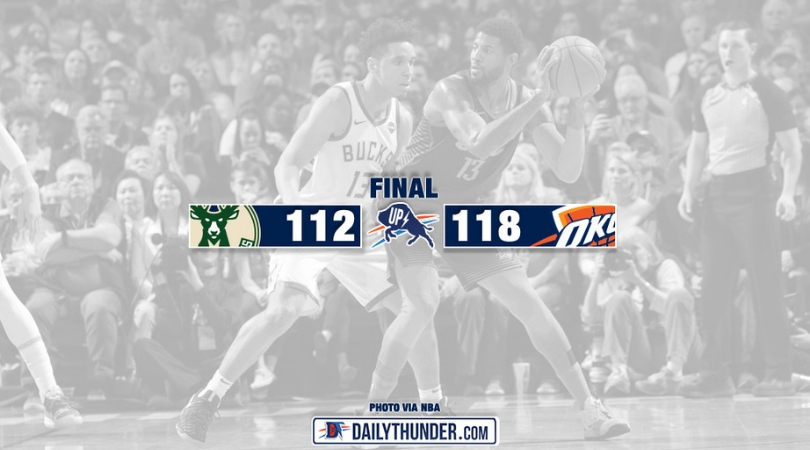 George scores 36, leads Thunder past Bucks