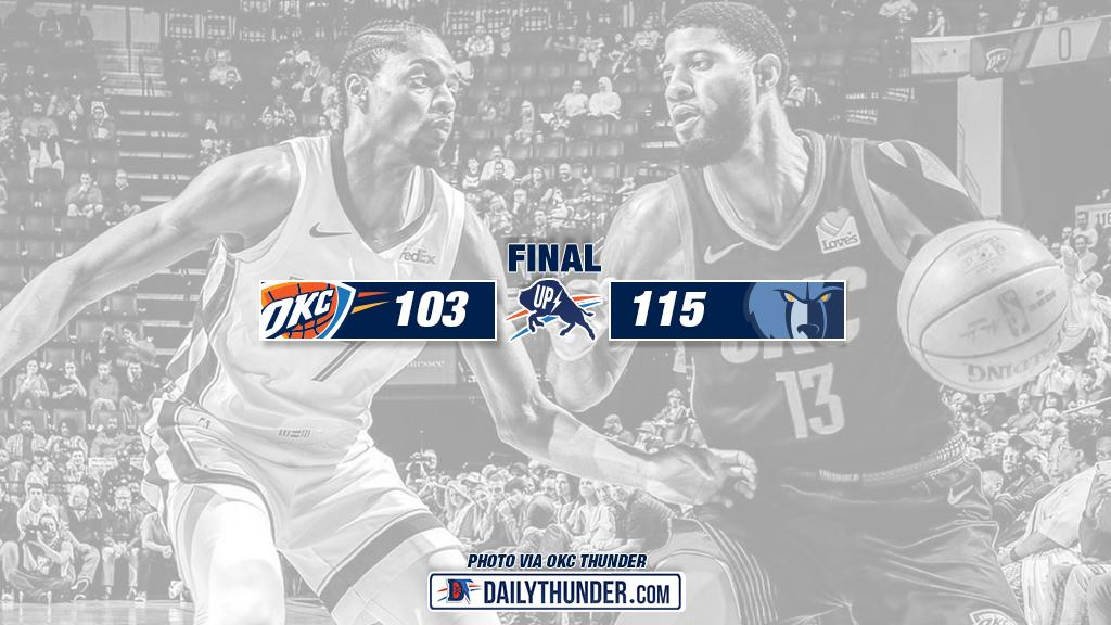 Caboclo's career-high 24 points lead Grizzlies past Thunder