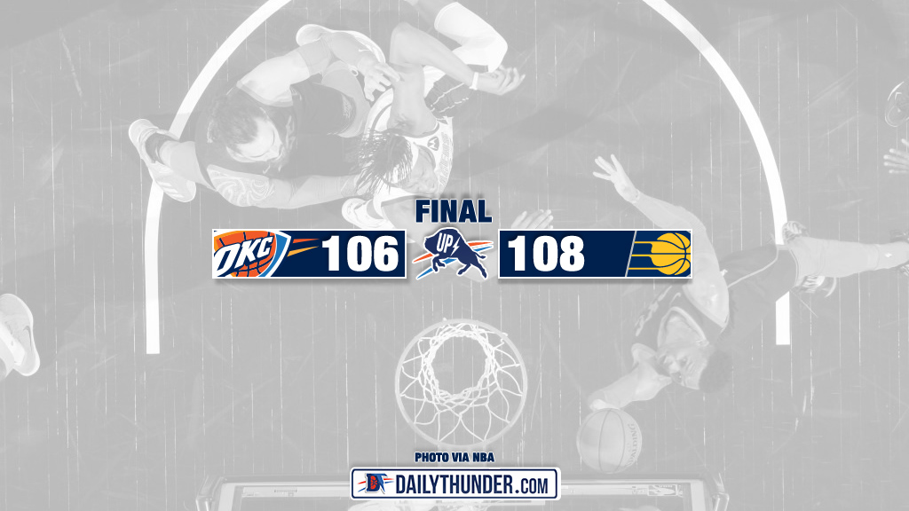 Thunder Fall Apart, Pacers Win 108-106 in Indiana