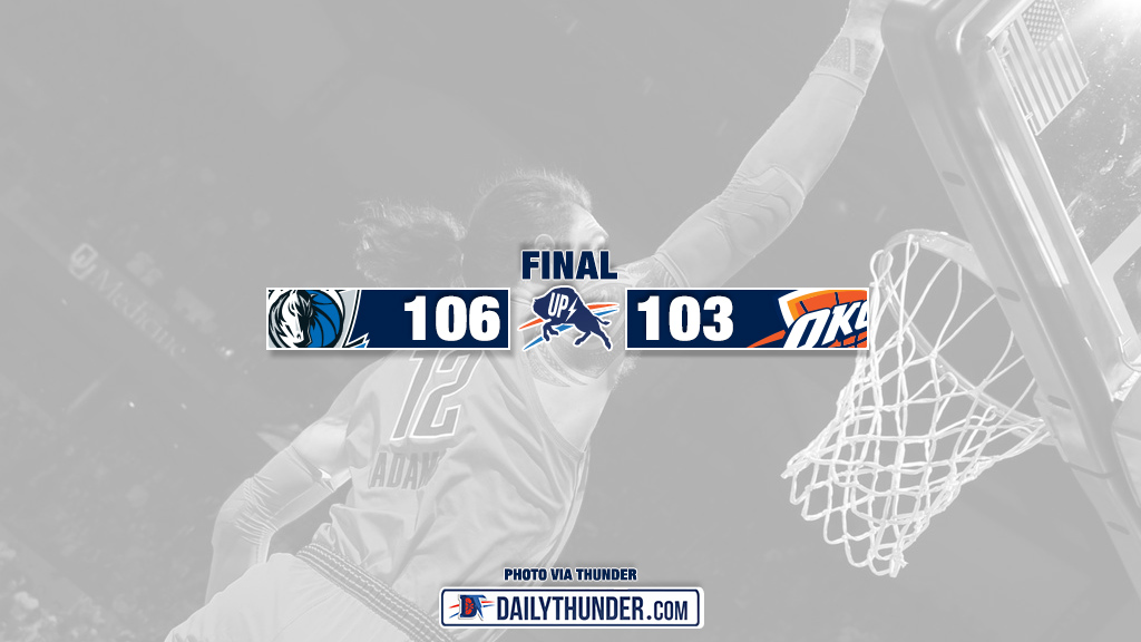 Thunder Can't Get Stops, Fall to Mavericks 106-103