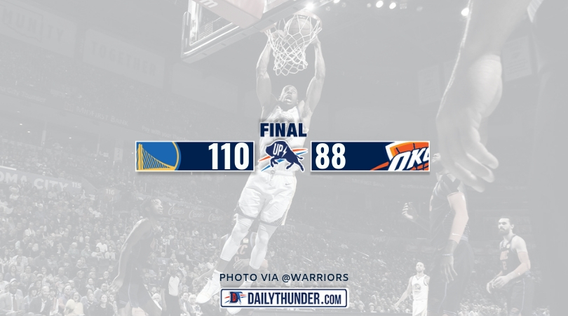 Warriors Blow Out Thunder, Win 110-88 in OKC