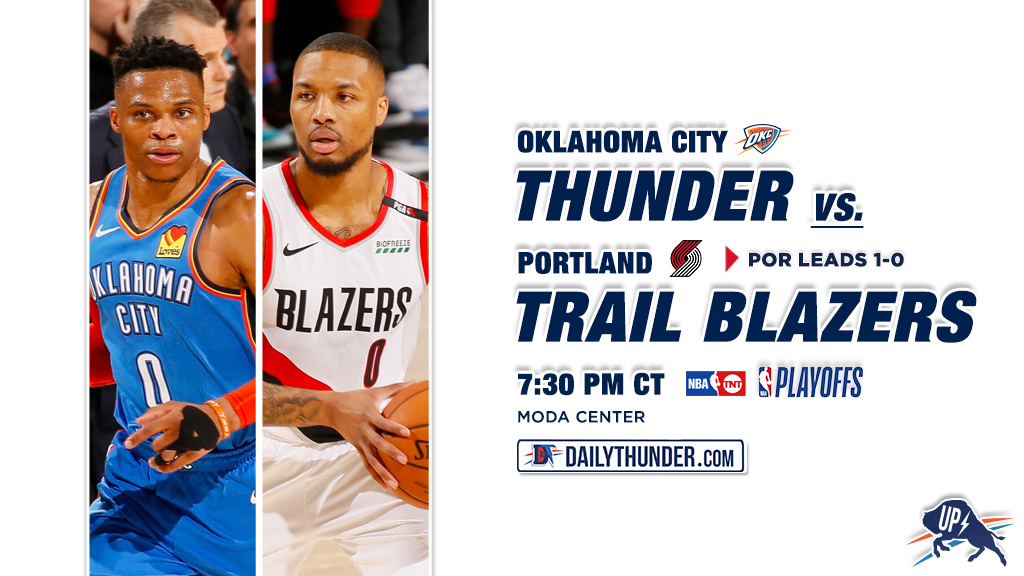 Trail Blazers Face Thunder In Game Two