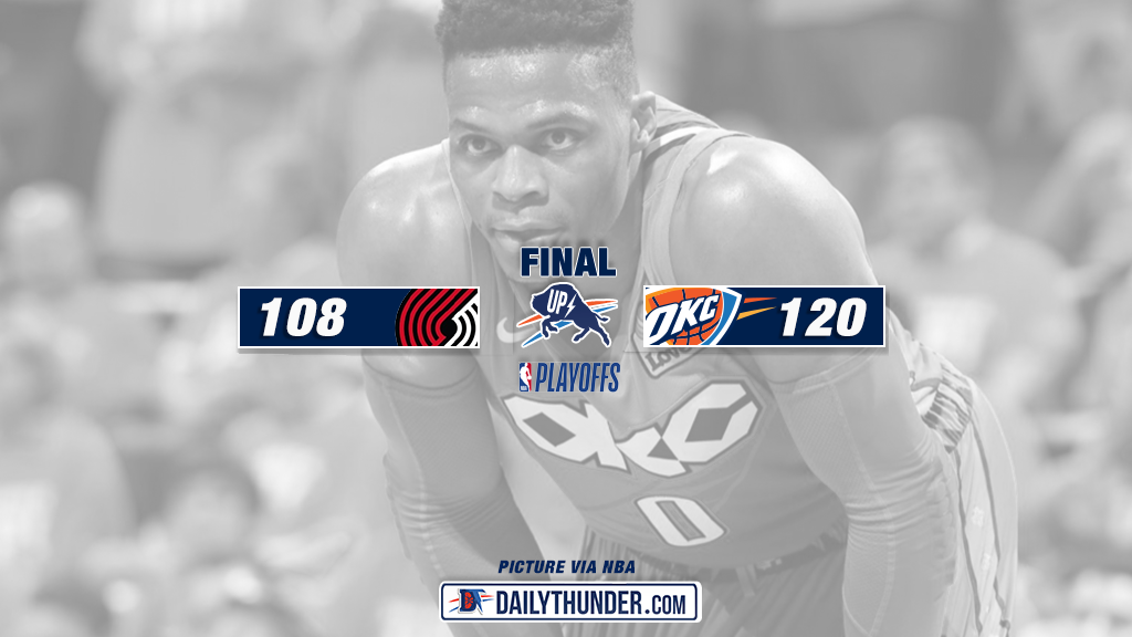 Thunder Dial Long Distance in Game 3, Win 120-108 at the 'Peake