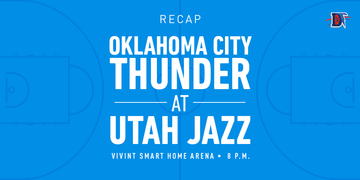 Game 1 Recap: Jazz (1-0) def. Thunder (0-1) 100-95