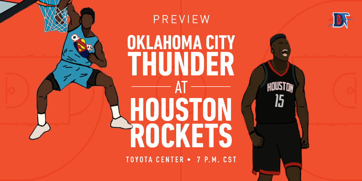 Game 4 Preview: Thunder (1-2) @ Rockets (1-1)