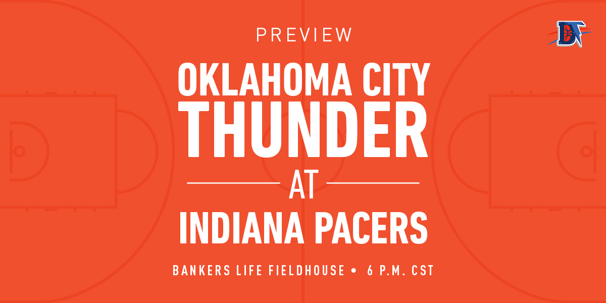 Game 11 Live Thread: Thunder (4-6) @ Pacers (6-4)
