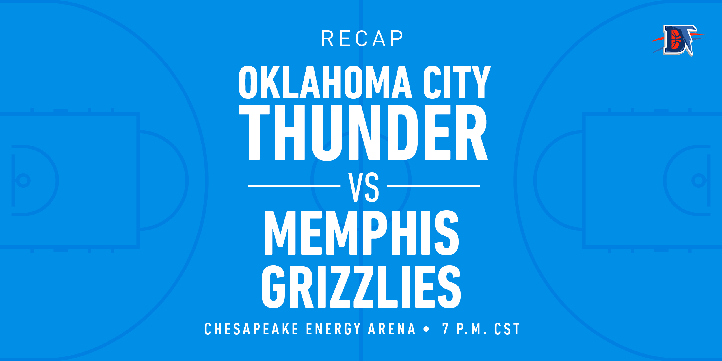 Game 27 Recap: Thunder (13-14) def. Grizzlies (10-18) 126-122