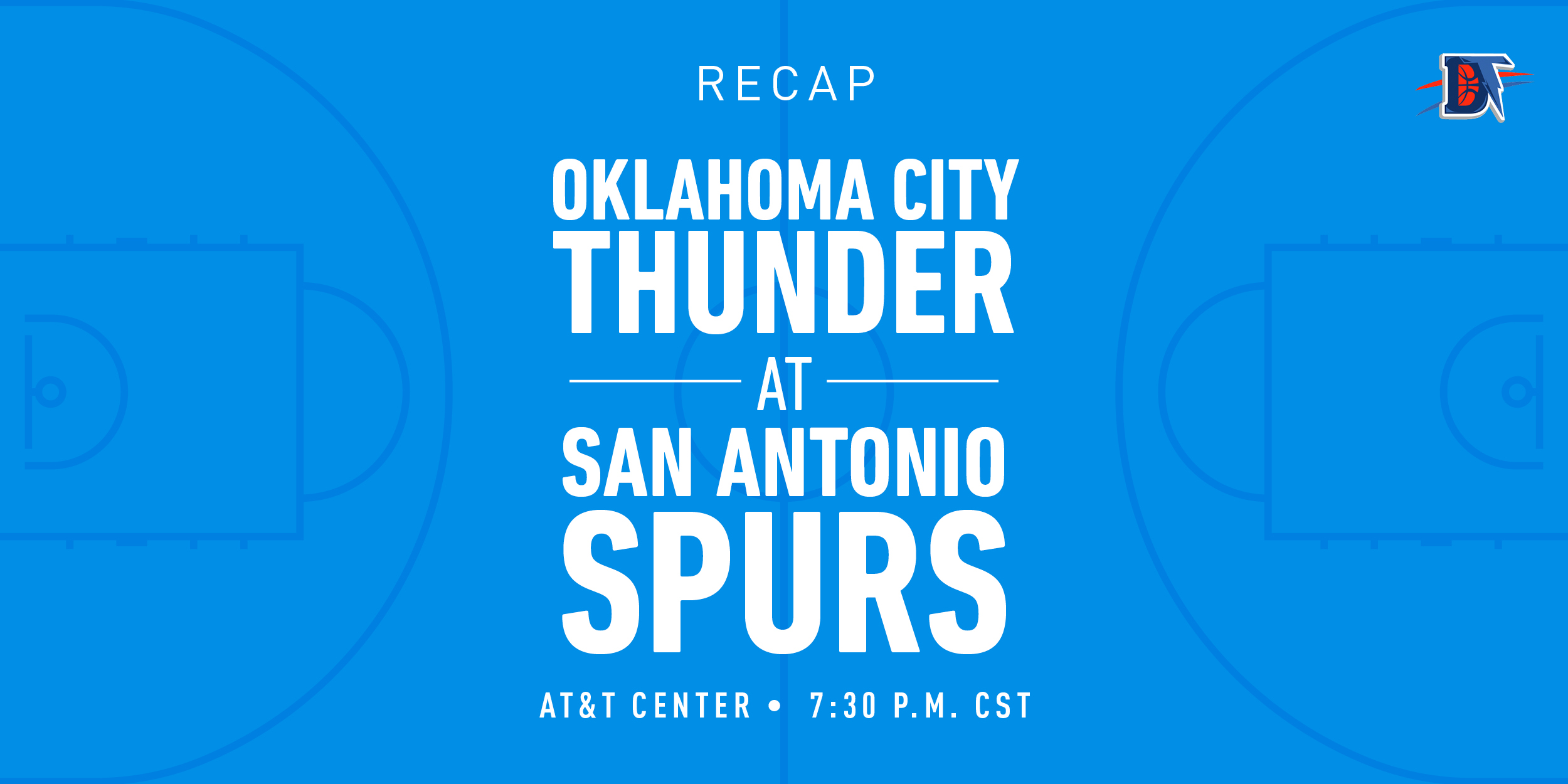 Game 34 Recap: Thunder (19-15) def. Spurs (14-19) 109-103
