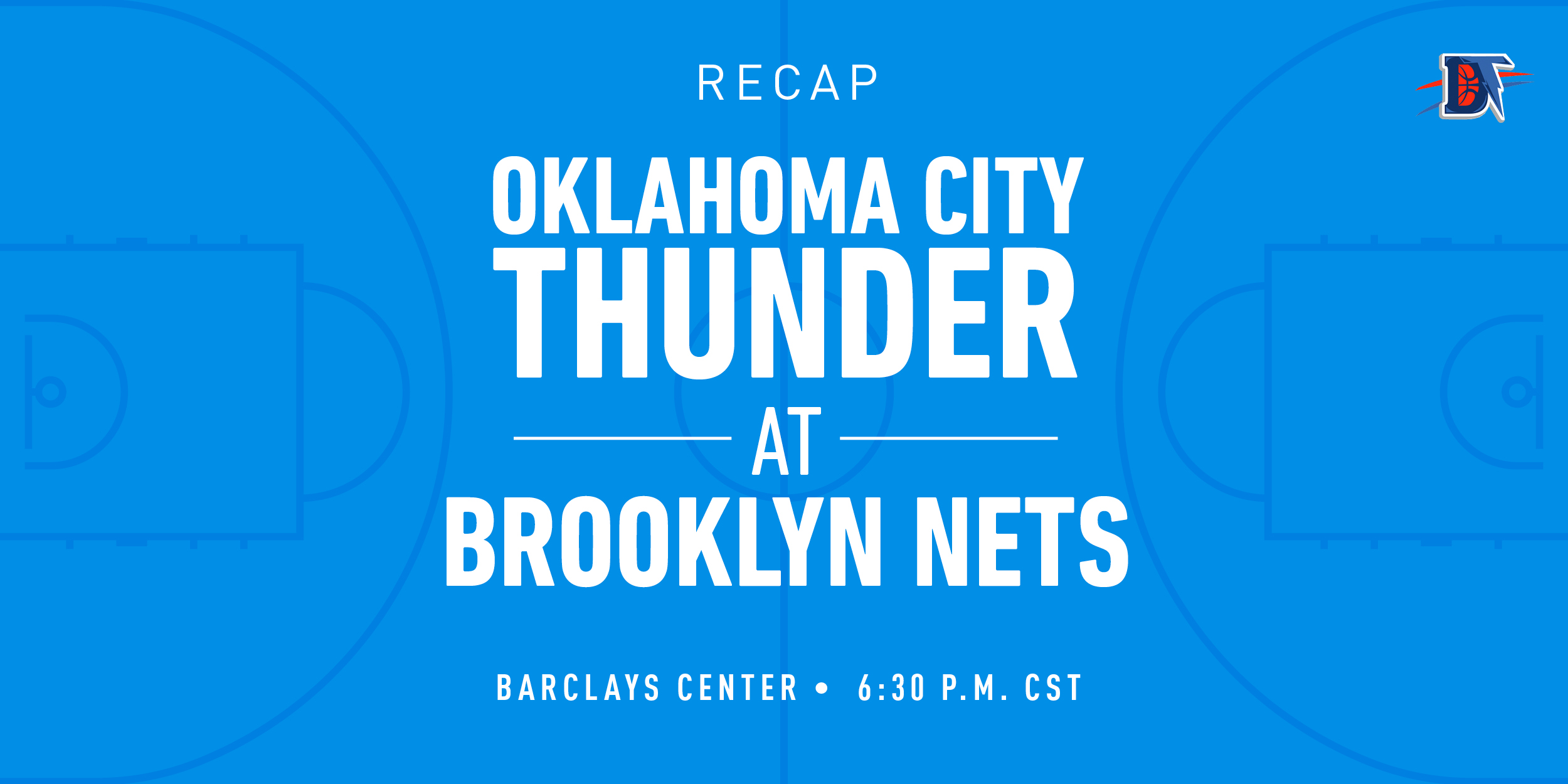 Game 37 Recap: Thunder (21-16) def. Nets (16-20) 111-103 OT