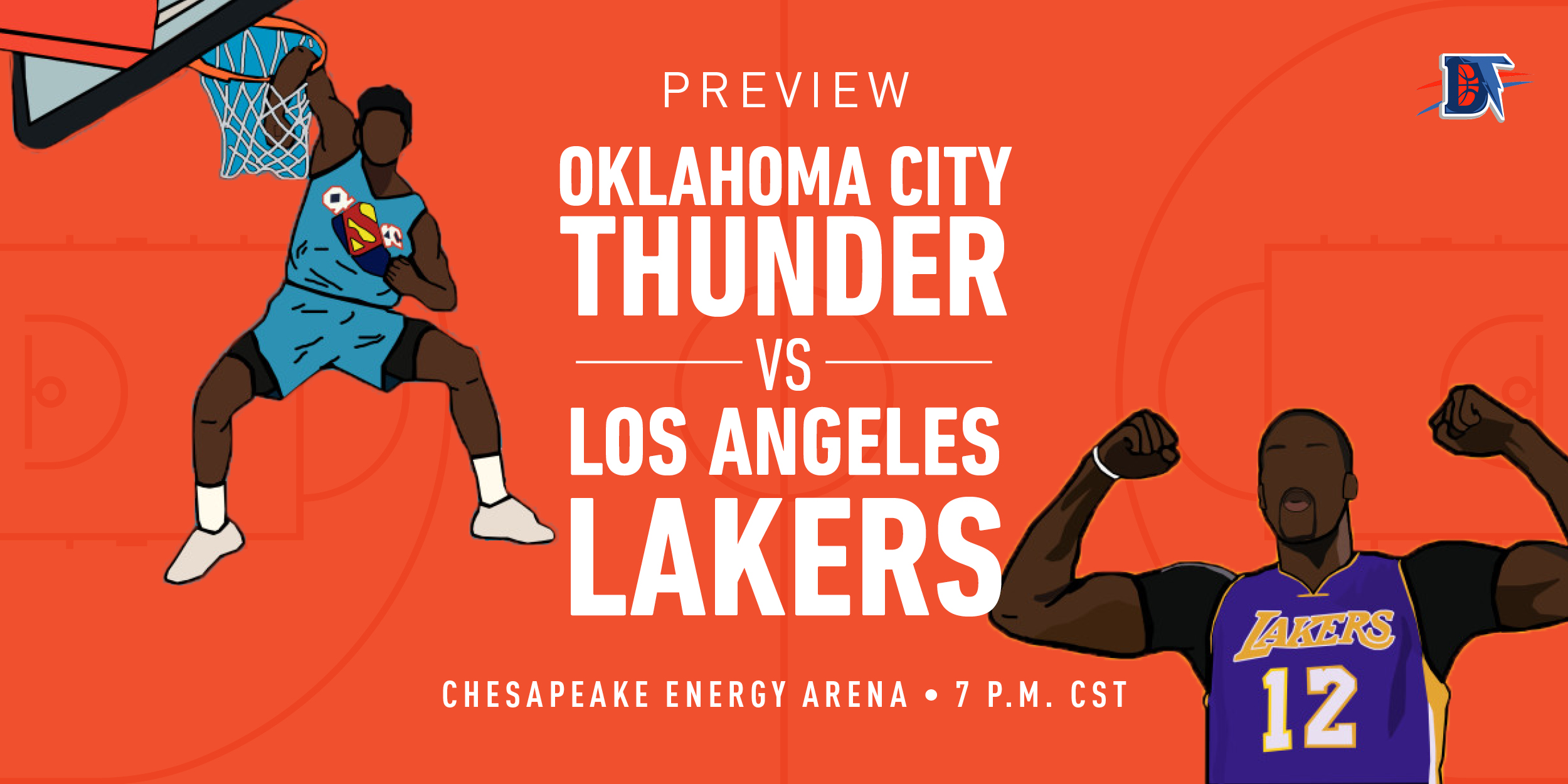 Game 39 Live Thread: Thunder (22-16) vs. Lakers (31-7)