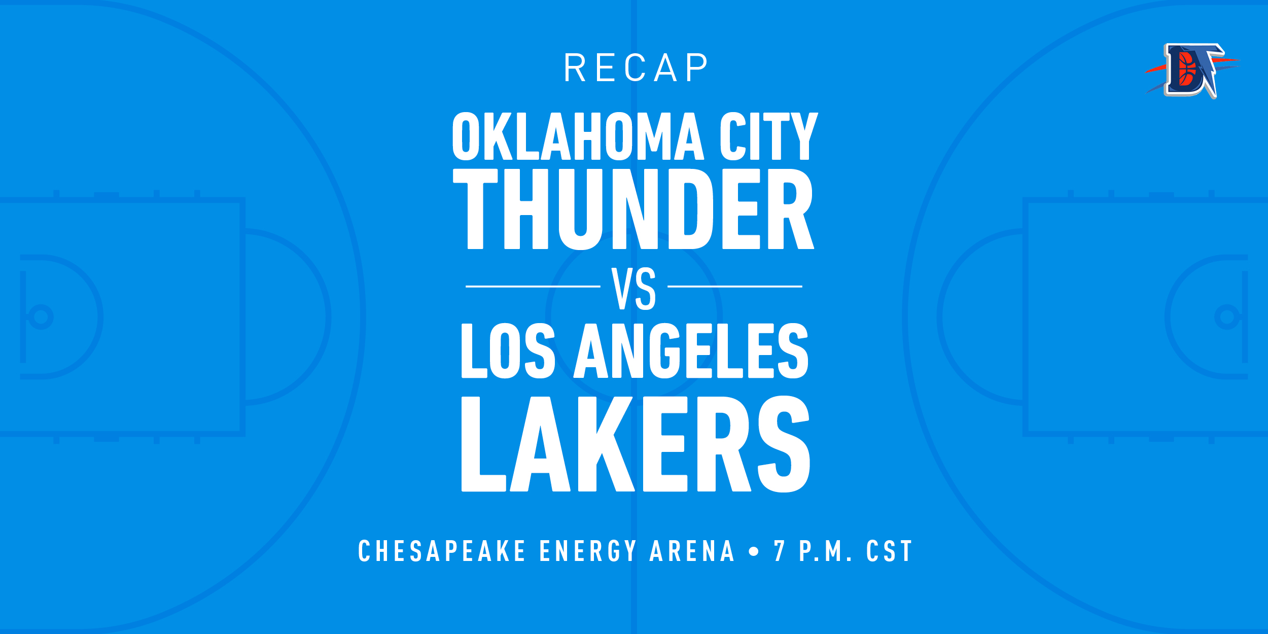 Game 39 Recap: Lakers (32-7) def. Thunder (22-17) 125-110