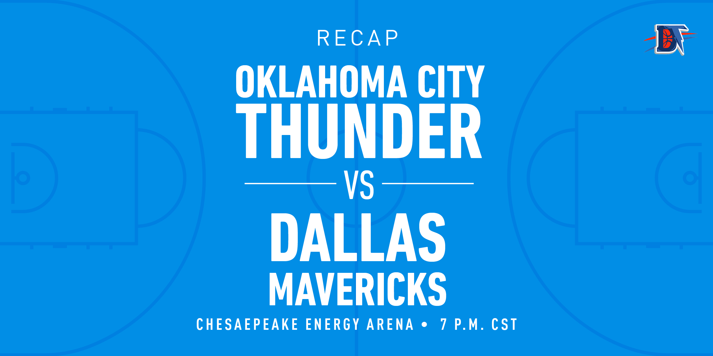 Game 33 Recap: Thunder (18-15) def. Mavericks (21-12)