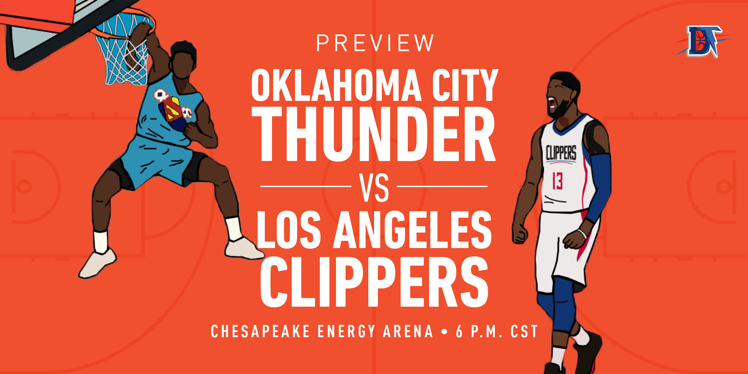 Game 29 Live Thread: Thunder (14-14) vs. Clippers (22-9)