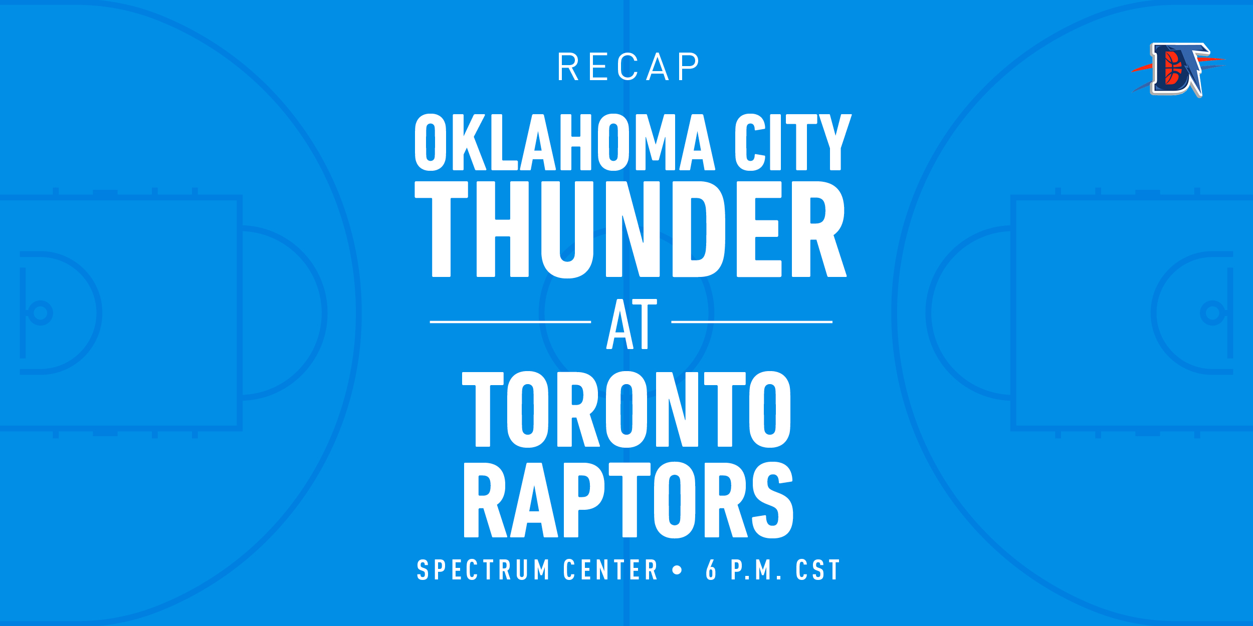 Game 32 Recap: Thunder (17-15) def. Raptors (22-11) 98-97