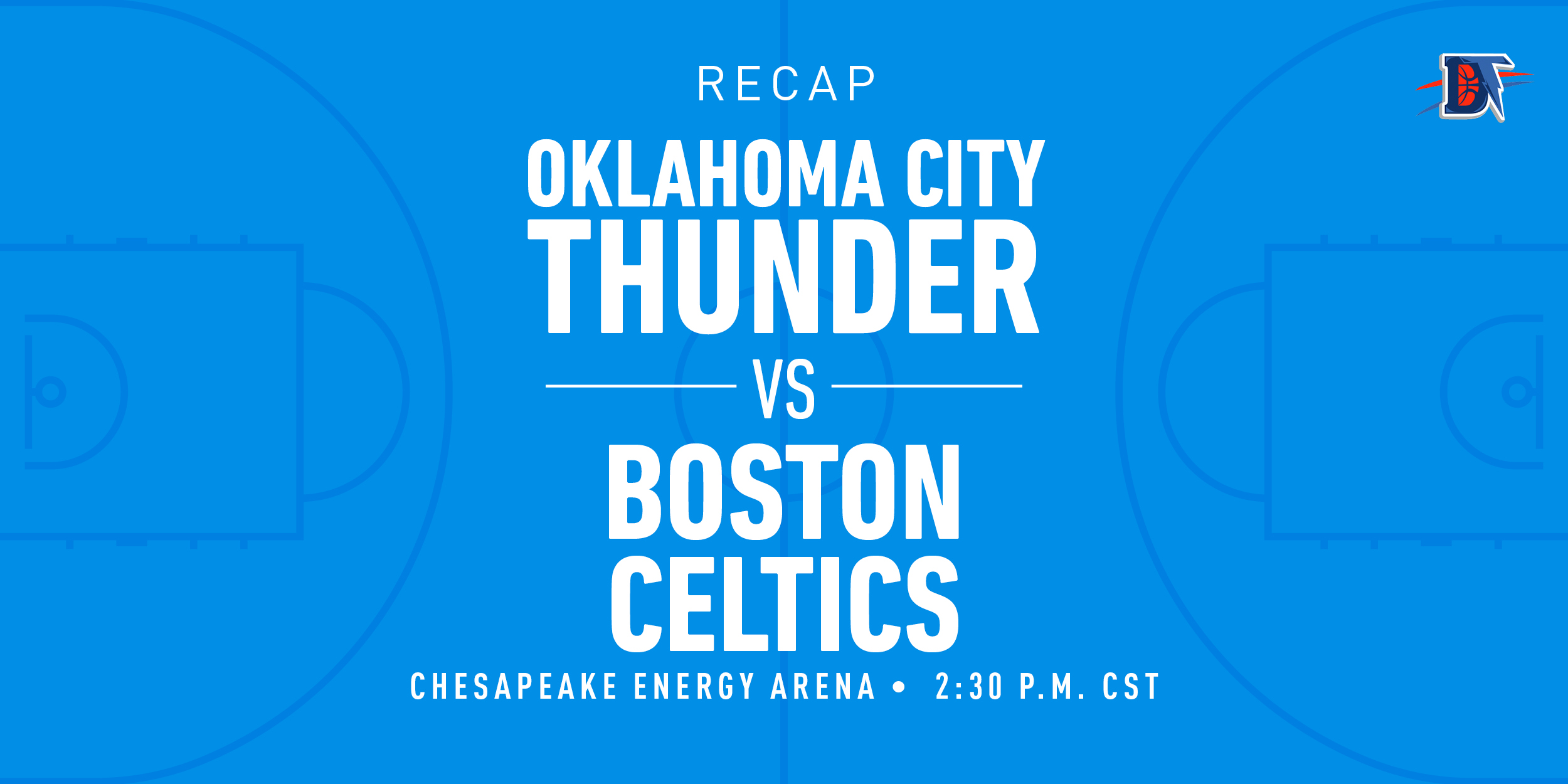 Game 53 Recap: Celtics (37-15) def. Thunder (32-21) 112-111