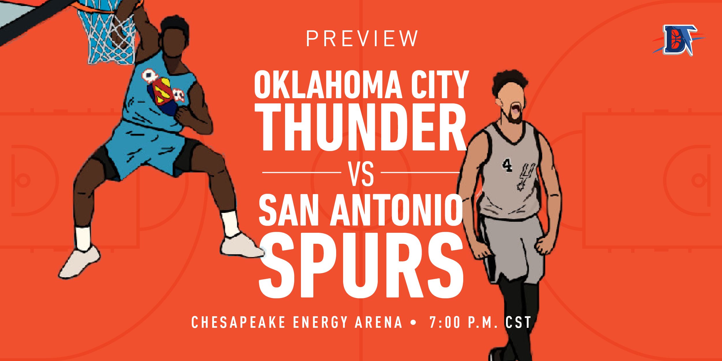 Game 54 Live Thread: Thunder (32-21) vs. Spurs (22-31)