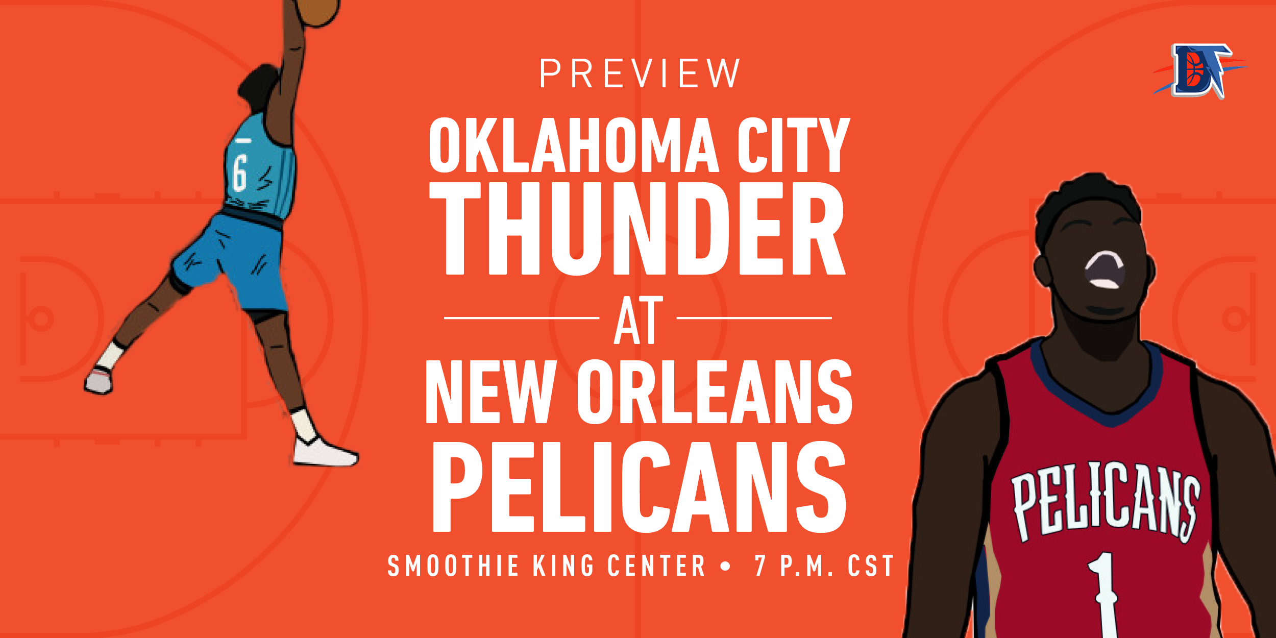 Game 55 Live Thread: Thunder (32-22) @ Pelicans (23-31)