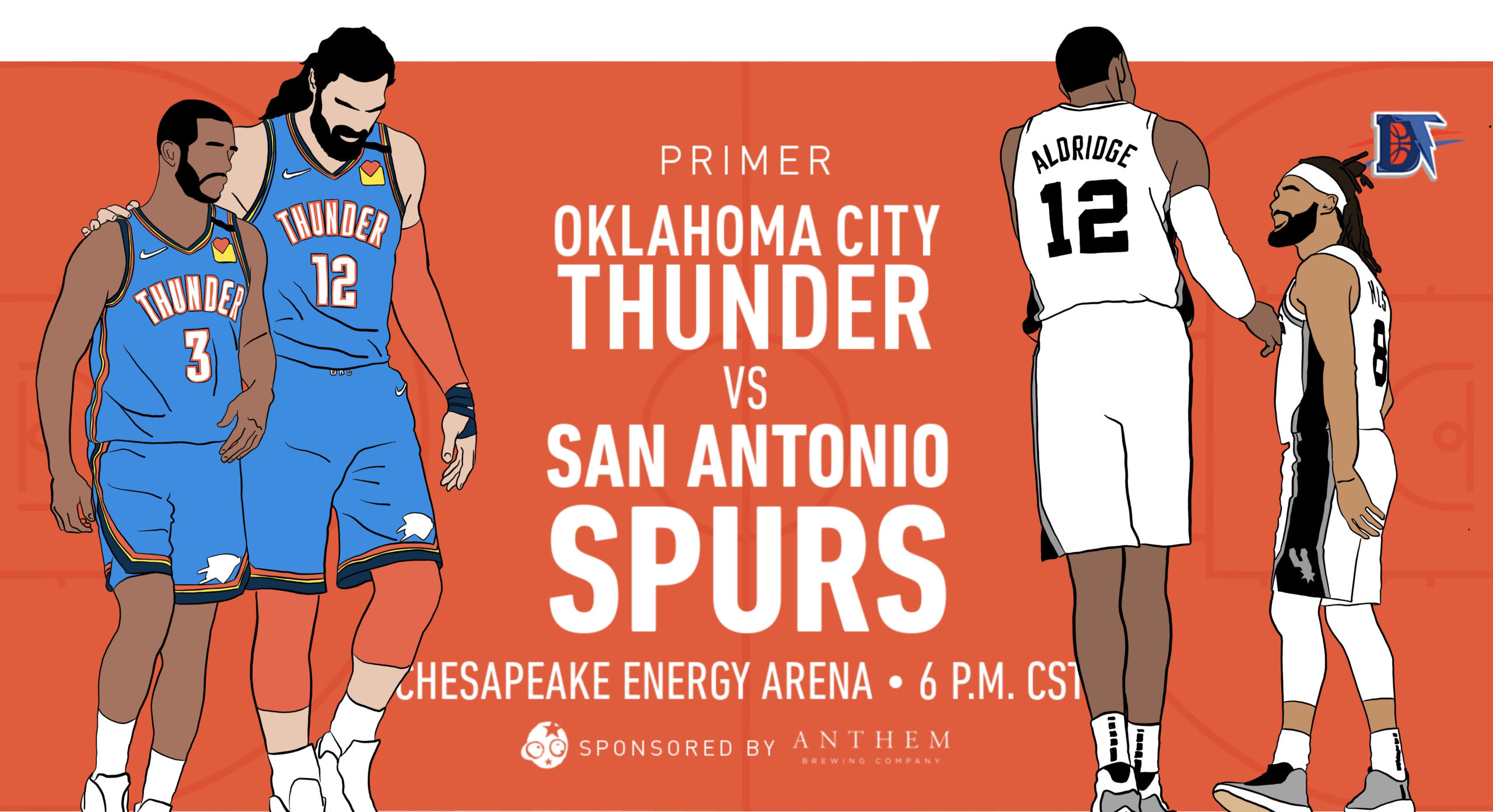Game 57 Pregame Primer: Thunder (34-22) vs. Spurs (24-31)