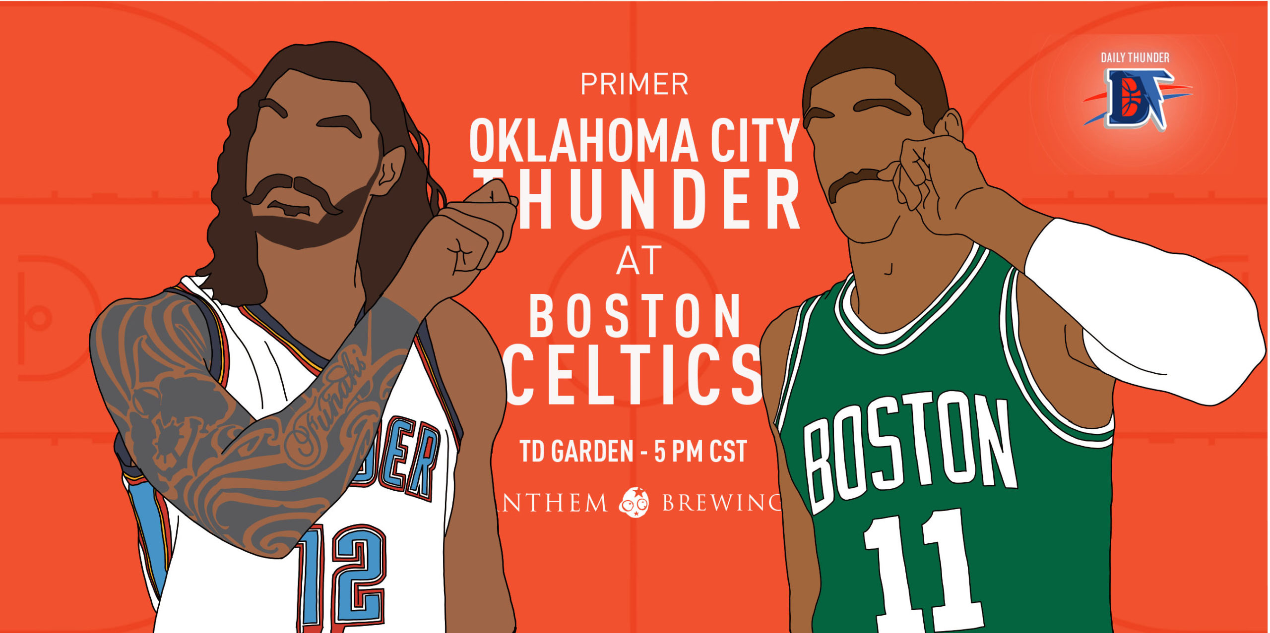 Game 64 Pregame Primer: Thunder (39-24) @ Celtics (42-20)