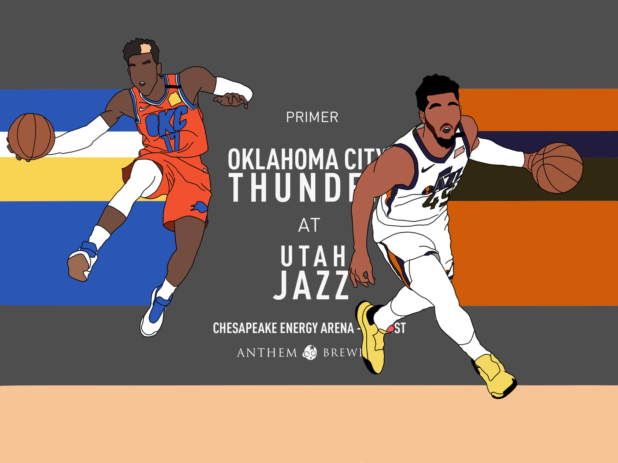 Game 65 Pregame Primer: Thunder (40-24) vs. Jazz (41-23)