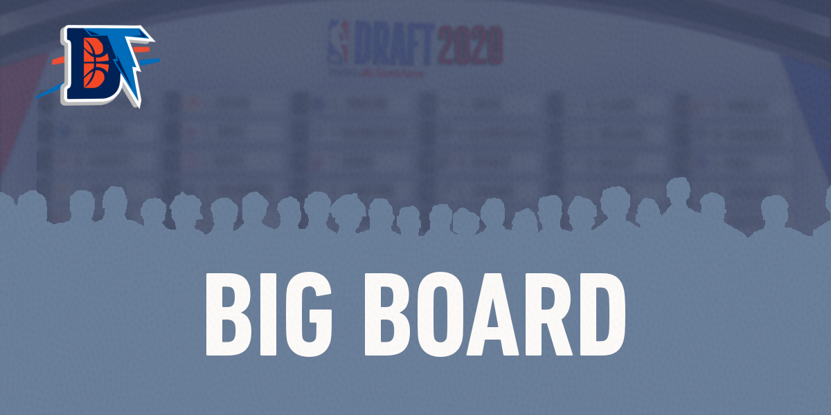 2020 NBA Draft Big Board