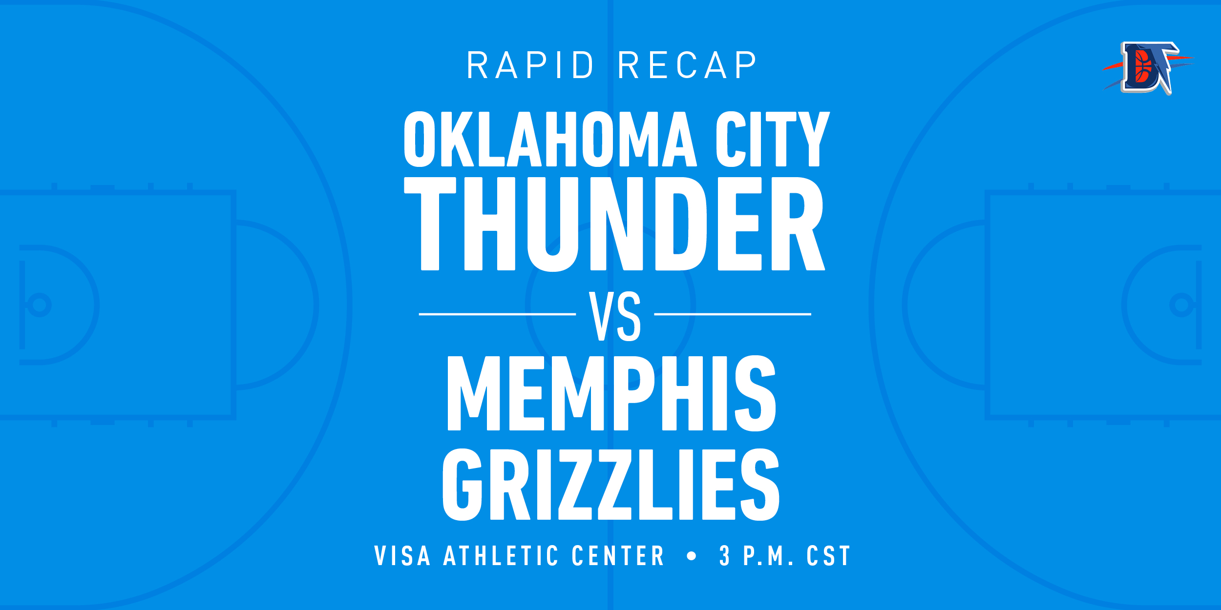 Game 68 Rapid Recap: Grizzlies (33-37) def. Thunder (42-26) 121-92