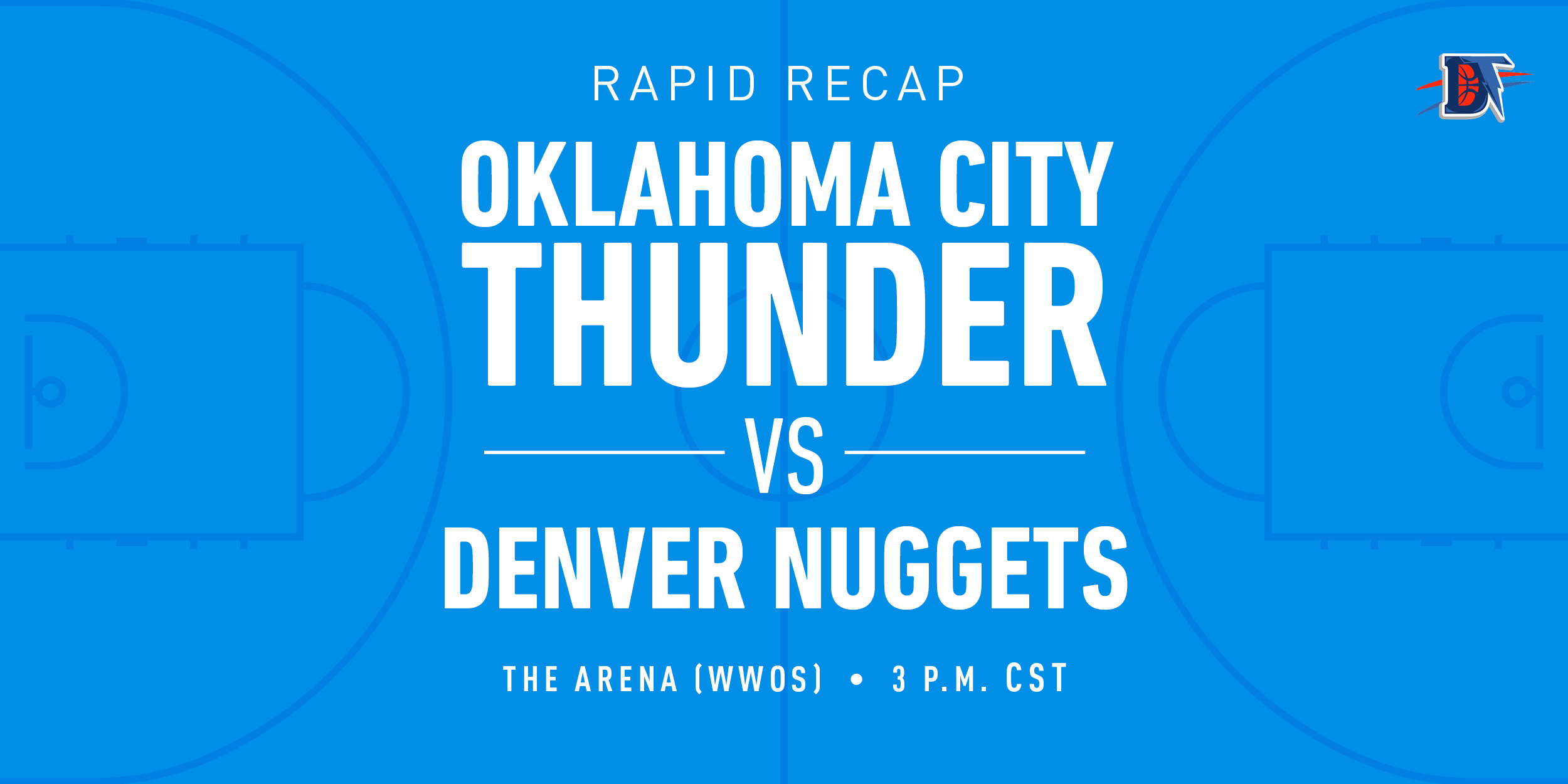 Game 66 Rapid Recap: Nuggets (44-23) def. Thunder (41-25) 121-113
