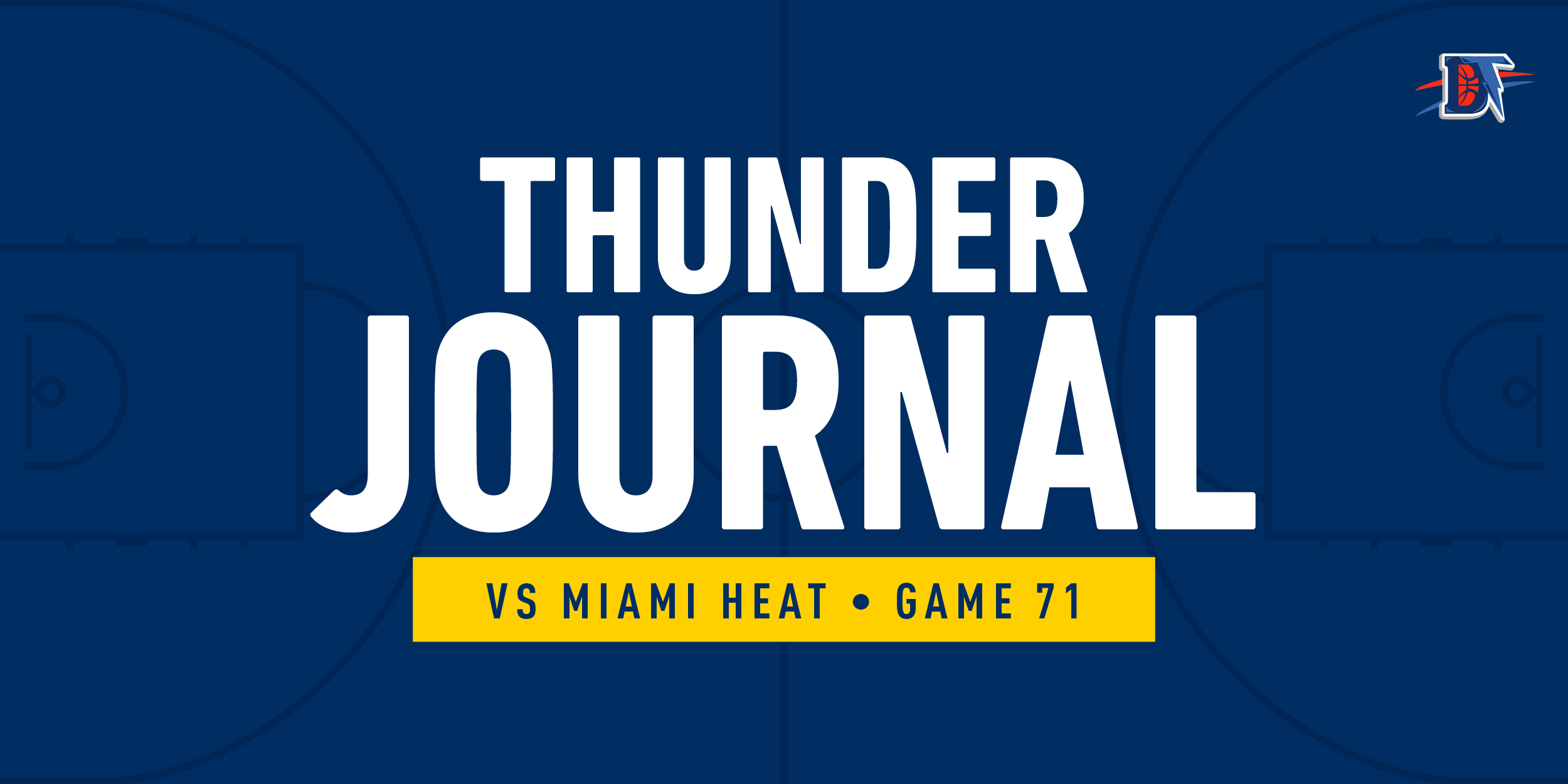 Thunder Journal: OKC Beats Heat 116-115. Thunder Wins Game, Loses Draft Pick