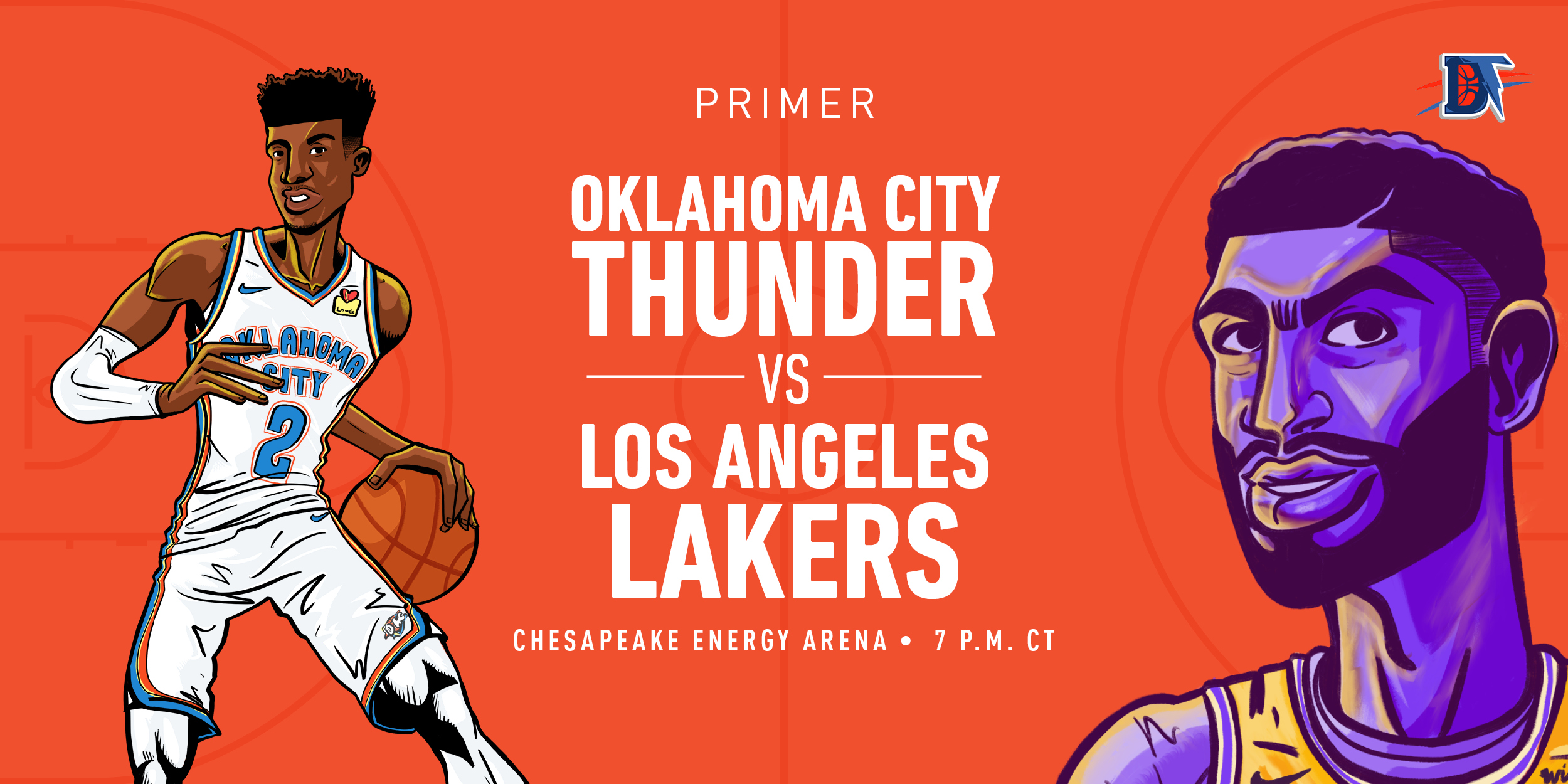 Game 11 Pregame Primer: Thunder (5-5) vs. Lakers (9-3)