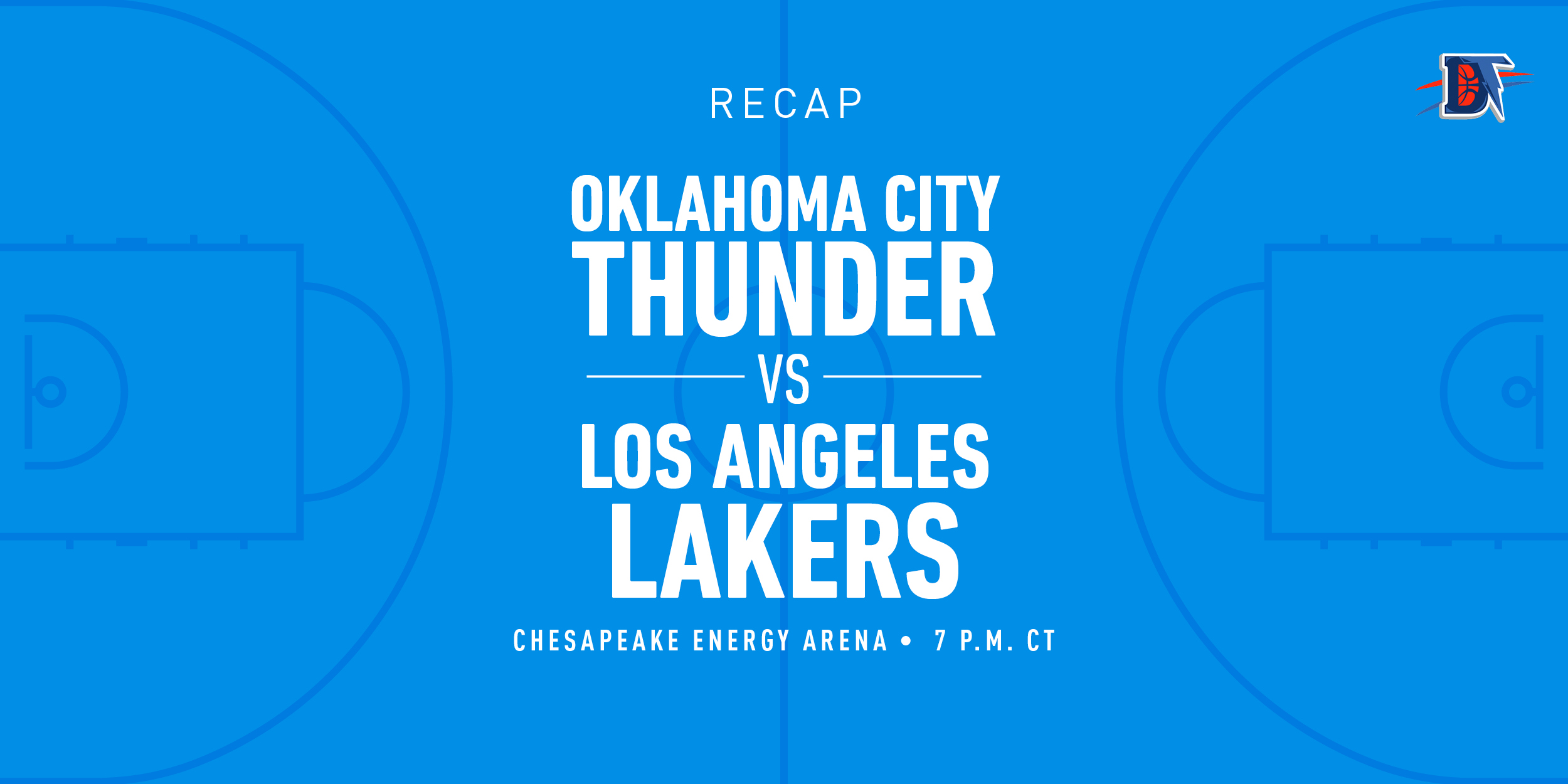 Game 11 Rapid Recap: Lakers (10-3) def. Thunder (5-6) 128-99
